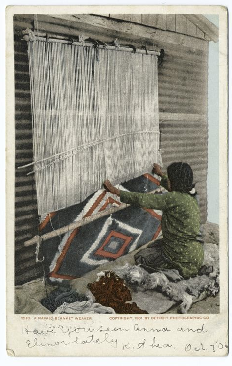 "Navaho Blanket Weaver / ""Have You Seen Anna and Elinor Lately"""