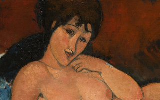 Nude on a Blue Cushion - Amadeo Modigliani - 1917 - Courtesy of the National Gallery of Art