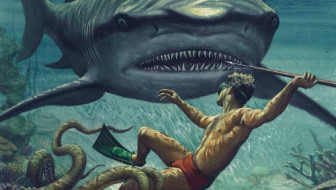 "Knustler illustration for ""Jaws"" by Terese Svoboda"