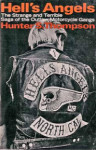 "Random House's first edition of ""Hell's Angels"" features an image of a biker donning the motorcycle club's ubiquitous ""death's head"" insignia."